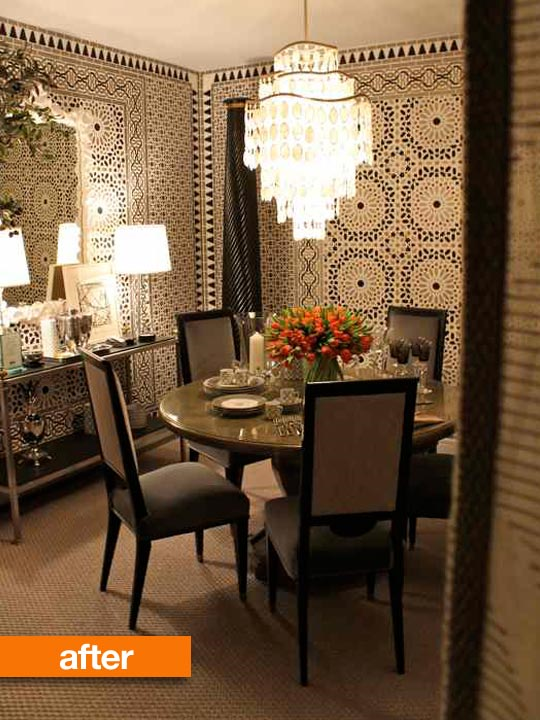 Nomad Luxuries showcasing an after photo of a beautifully decorated dining area.