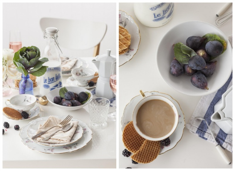 Nomad Luxuries an inspiration for a european styled brunch with a simple and clean white tabling.