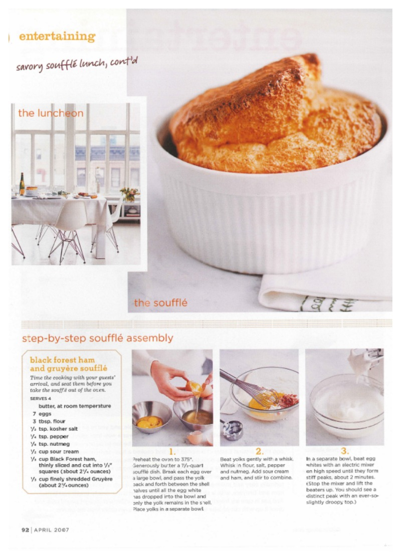 Nomad Luxuries recipe inspiration on how to make a savory souffle.