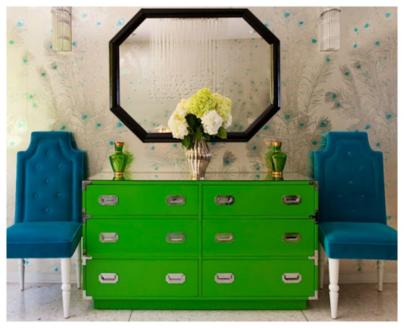 Nomad Luxuries an inspirational photo for thrifting colorful and modern furniture.
