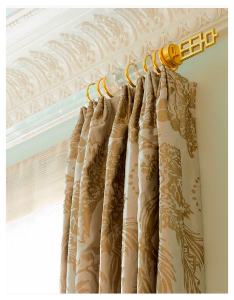 Luxury curtain rods - Asian Finials 800