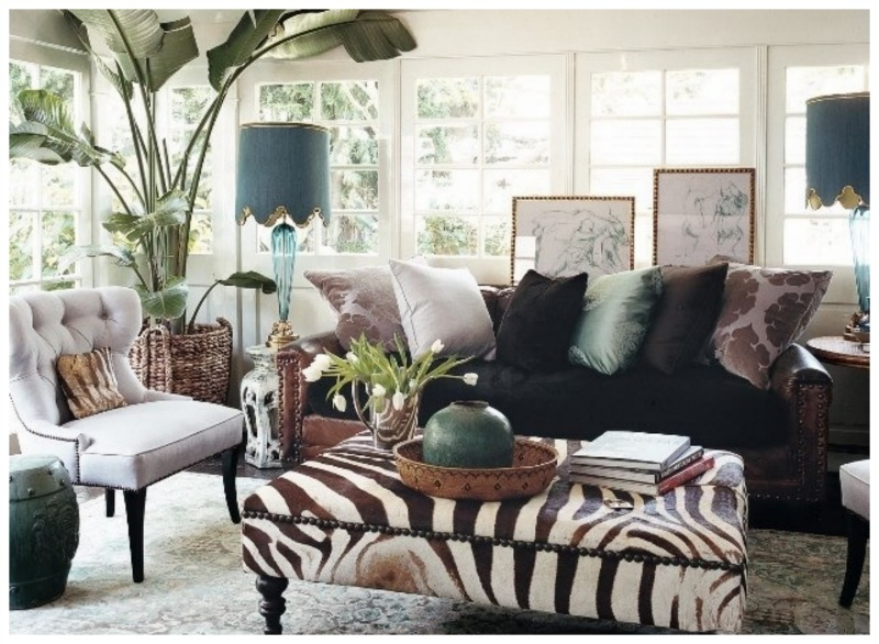 ottomans for living room. sunroom 800 Obsessing Over Zebra Ottomans  Nomad Luxuries