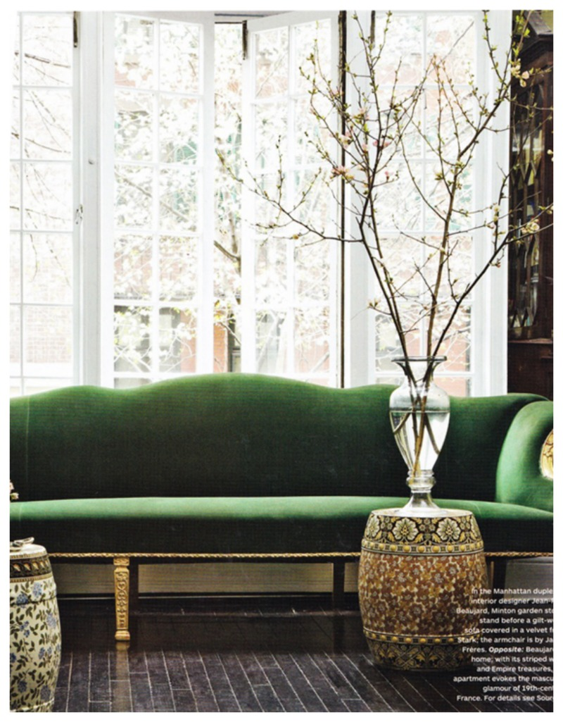 Monday Obsession Green Velvet Sofas Nomad Luxuries