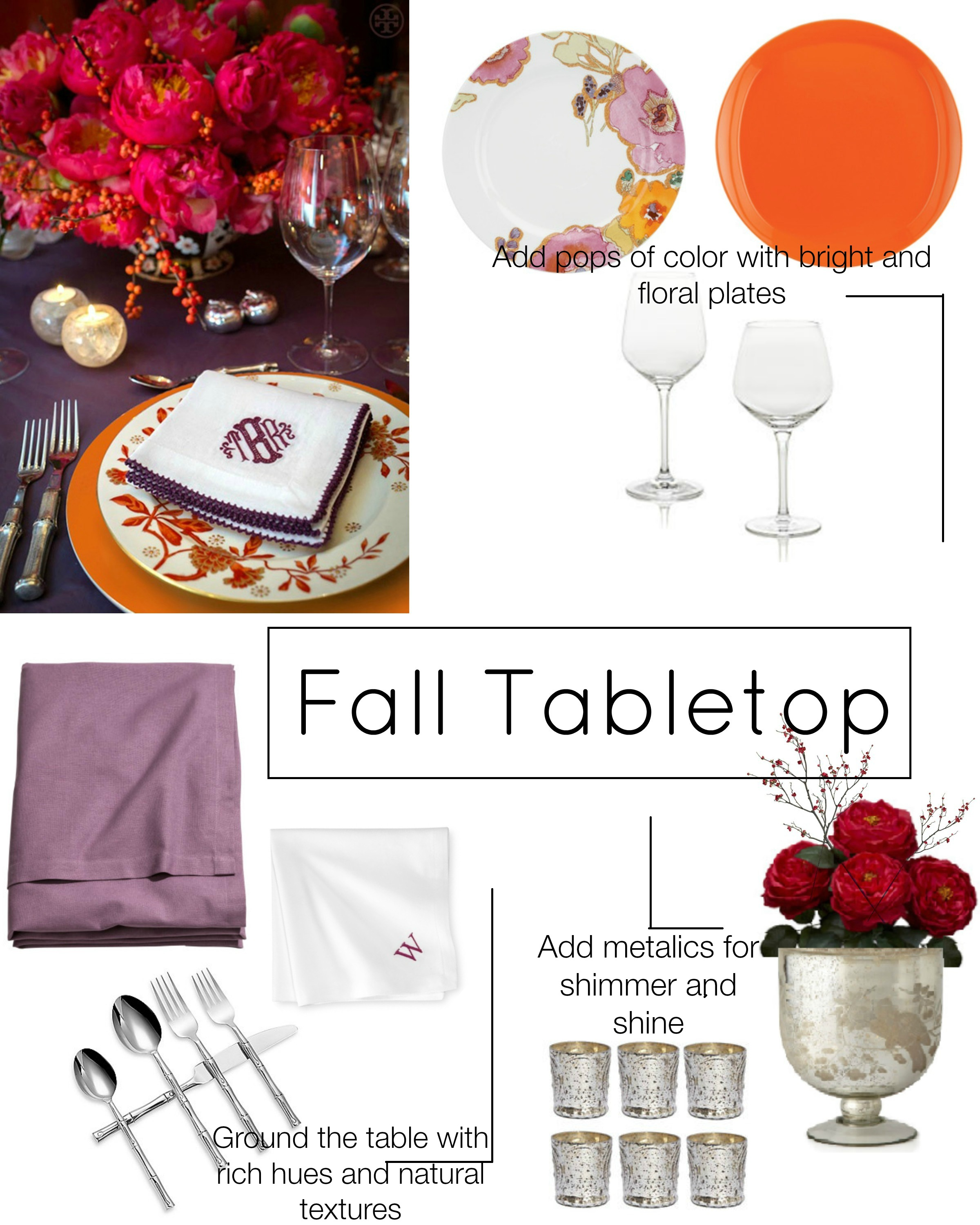 fall tabletop with lines and words