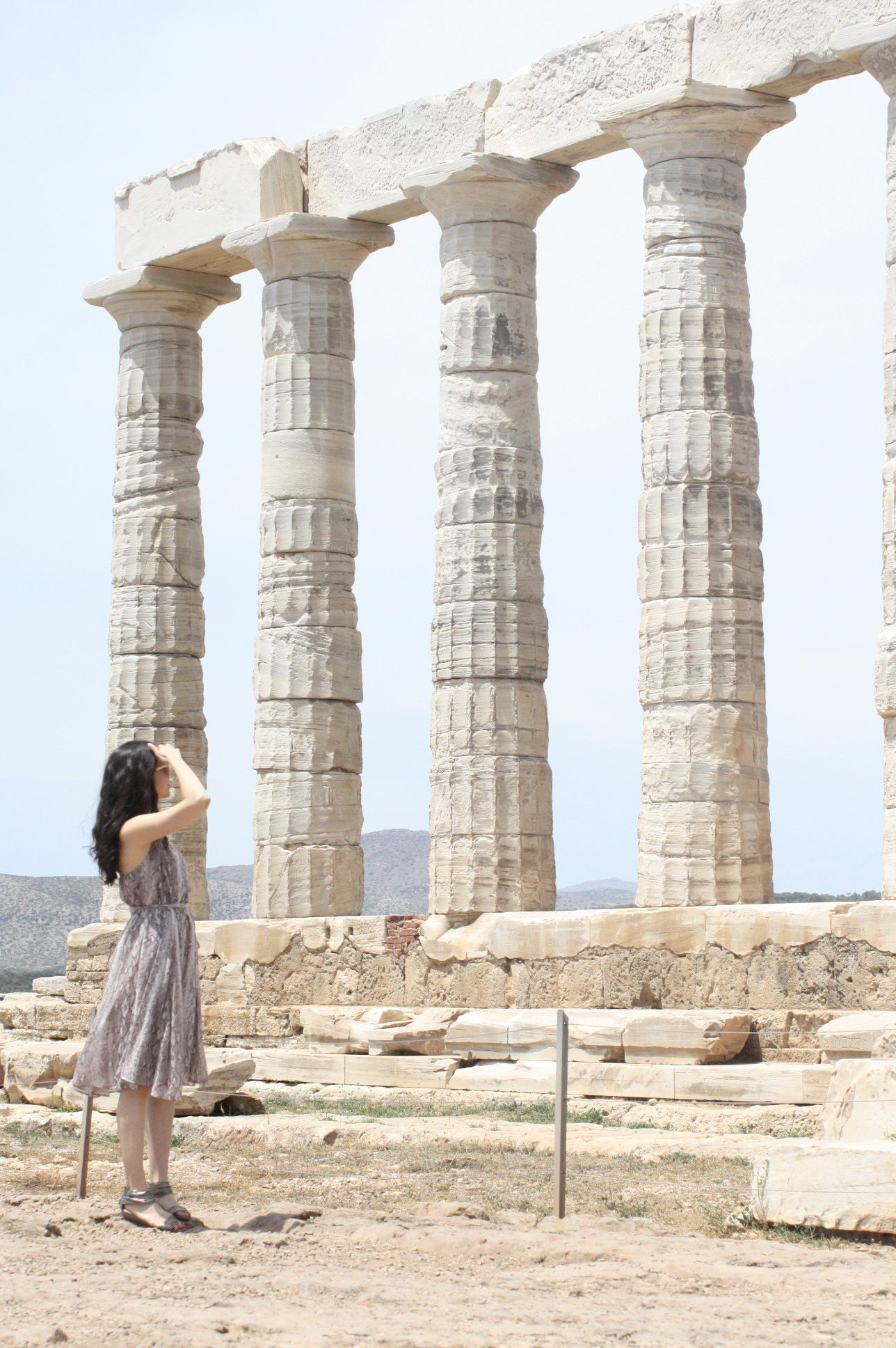NoMad Luxuries Snakeskin Dress in Sounion, Greece