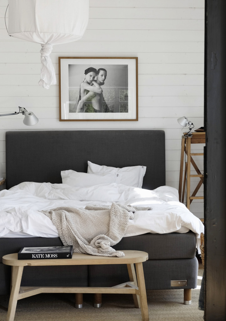 NoMad Luxuries a cozy, monochromatic bedroom for lazy mornings.