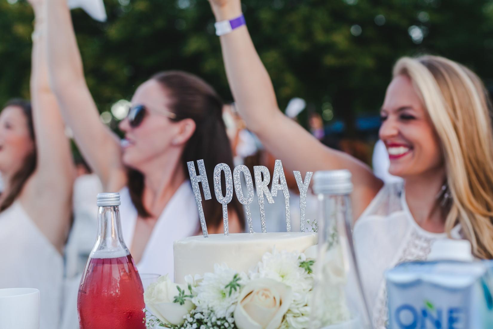NoMad Luxuries Hooray white Cake Topper Summer Entertaining