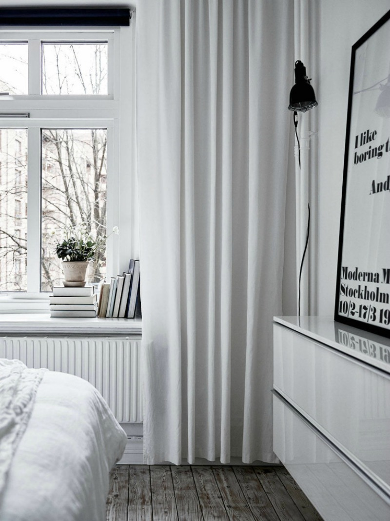 Home Tour of a modern and minimal monochromatic home in Sweden