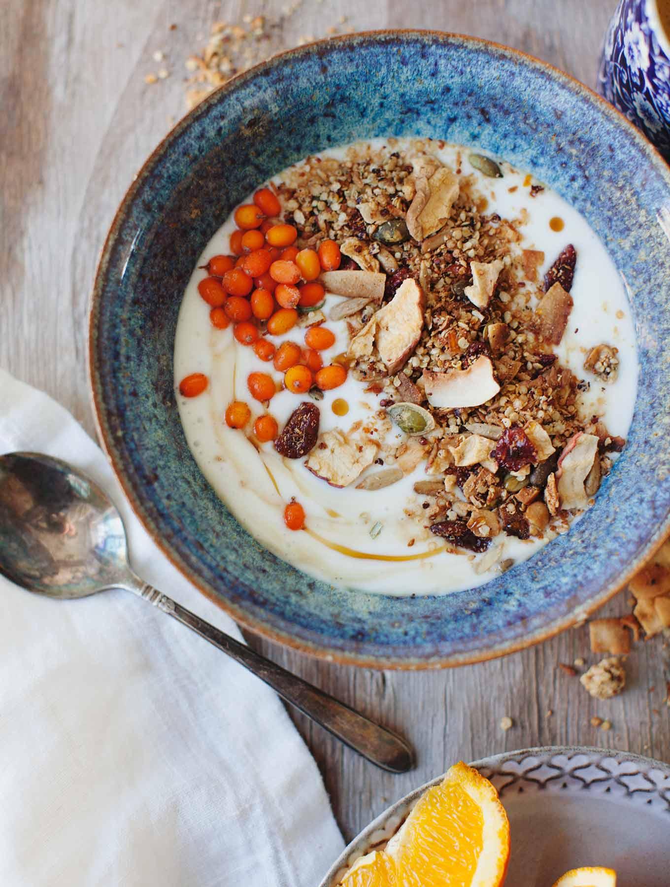 NoMad Luxuries Sunday Pairings bowl of muesli breakfast