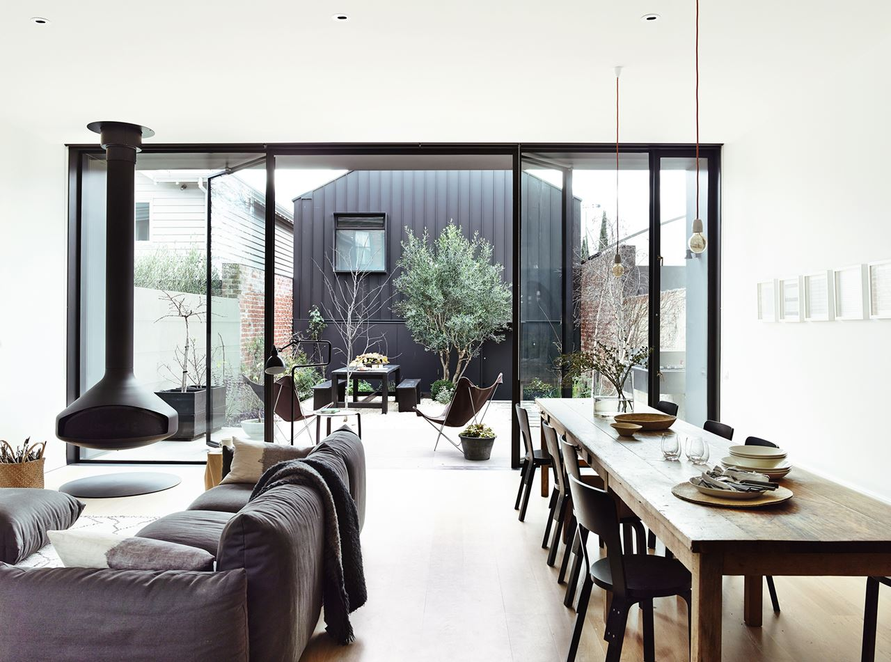 NoMad Luxuries Victorian Monochromatic home in Melbourne
