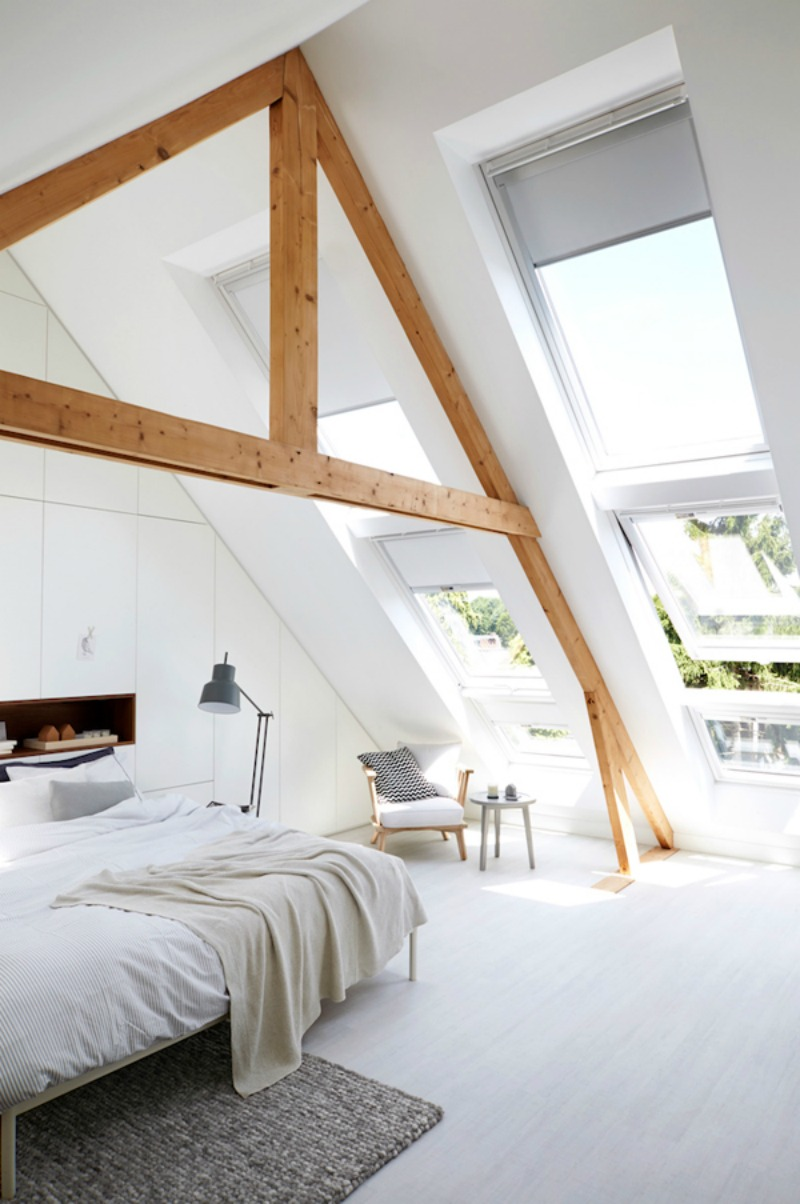 NoMad Luxuries Sunday Pairings with a bright sun-filled attic bedroom interior inspiration
