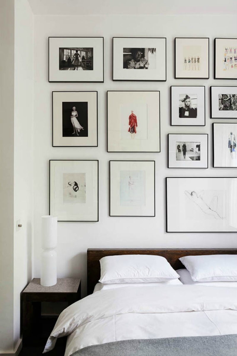NoMad Luxuries bedroom gallery wall interior inspiration