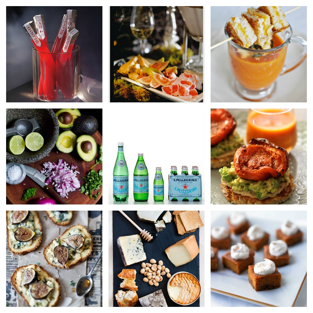 Nomad Luxuries photo collage of Halloween fete menu items.