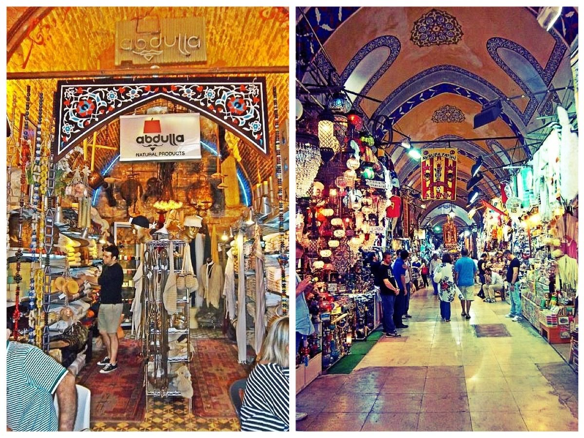 Nomad Luxuries photos of a Turkish Bazaar and various street vendors.