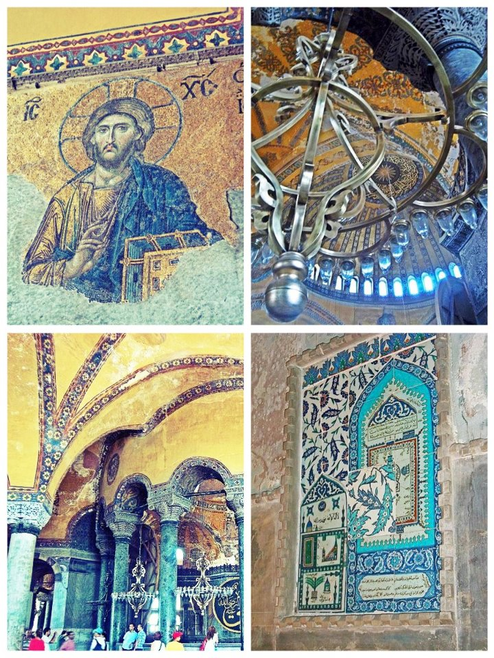 Nomad Luxuries picture of the  inside details of the Aya Sofya.