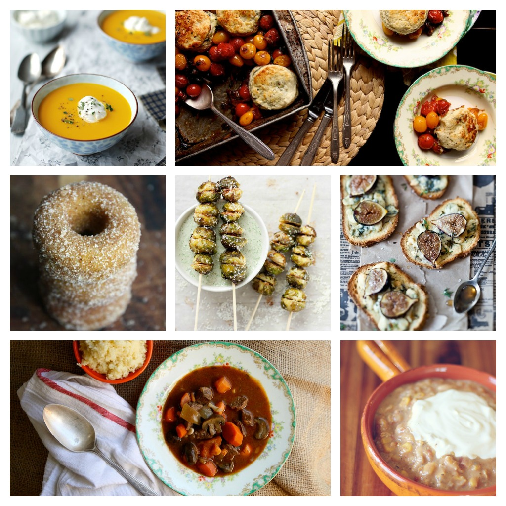 Nomad Luxuries photo collage of fall inspired comfort food.