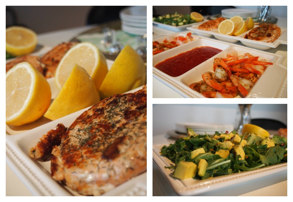 Nomad Luxuries; close up food prep view of healthy and hearty entrees.