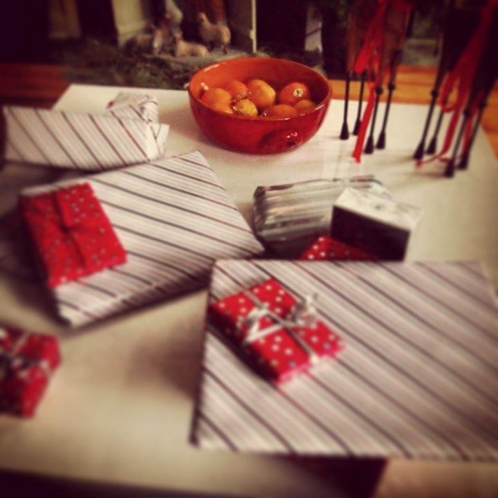 Nomad Luxuries; wrapped gifts ready to be opened.