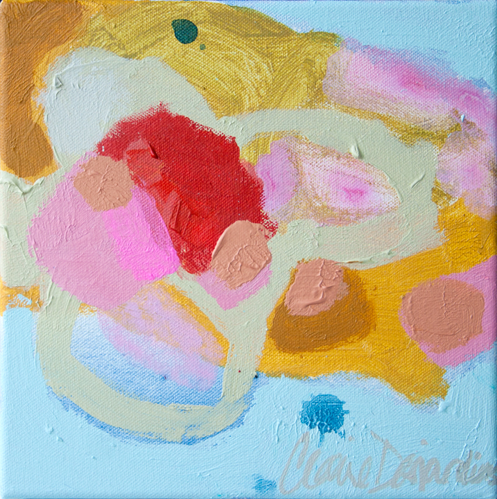 """Nomad Luxuries image of abstract painting by Claire Dejardins called """"In The Room"""""""