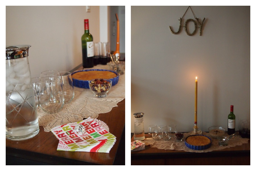 Nomad Luxuries; simple and minimal holiday decor for the occasion.