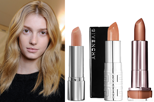 Nomad luxuries collage of nude lip colors of different undertones.