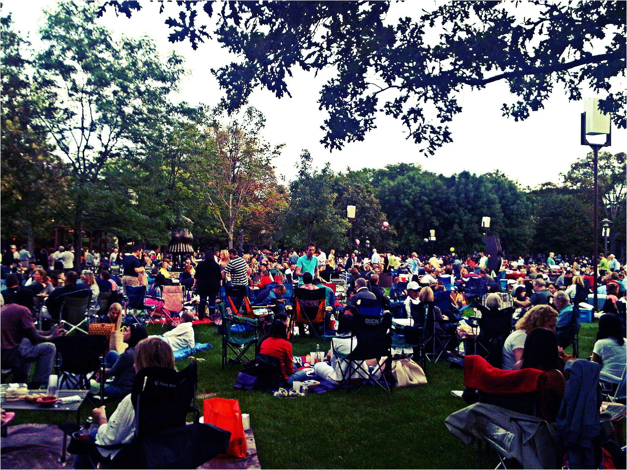 Nomad Luxuries photo capturing crowd at the Ravinia for a picnic.