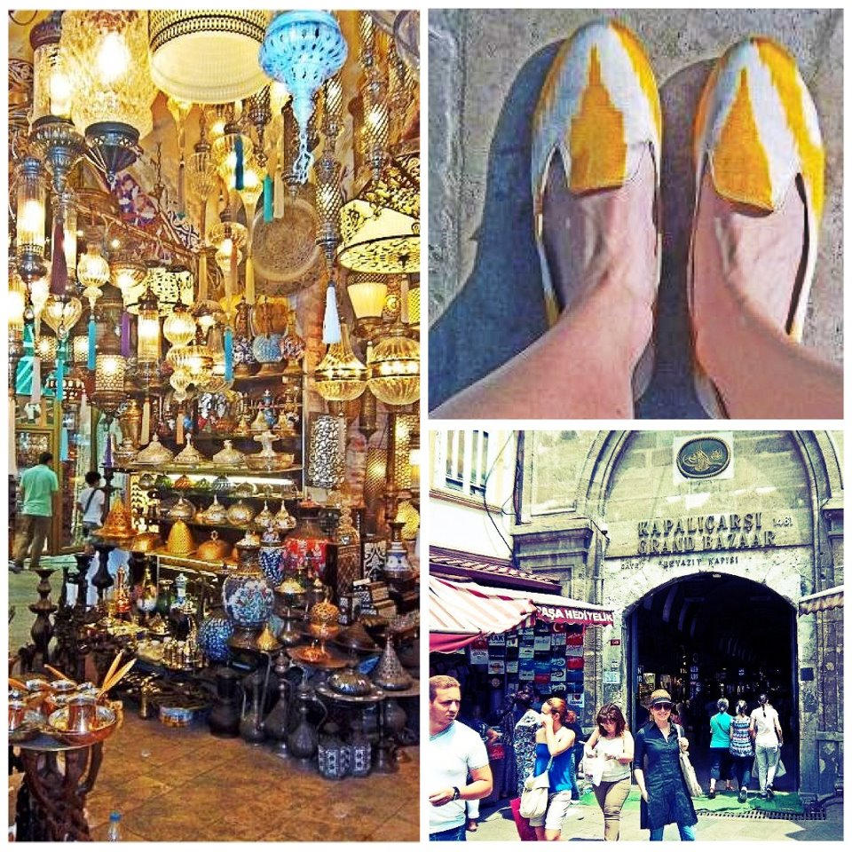 Nomad Luxuries photo collage of Turkish tourist areas and fashion items.