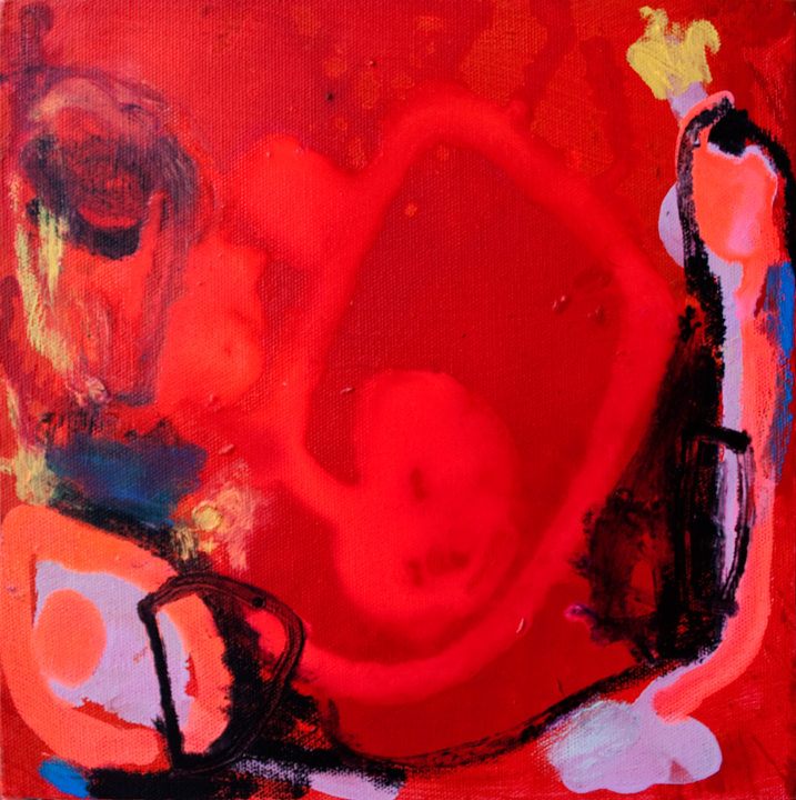"""Nomad Luxuries image of abstract painting called """"Surprised at You""""."""
