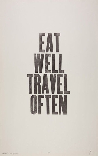 Nomad Luxuries motivational life and travel typography image